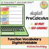 Function Vocabulary Digital Foldable for Google Slides™ Di
