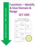 Function Worksheet and Sort Activity - Identify Functions