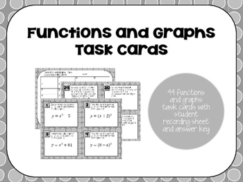 Function and Graph Task Cards