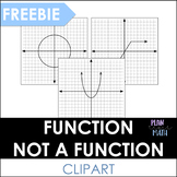 Function and Not a Function Graph - Math Clipart
