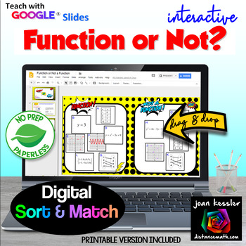 Identifying Functions - Function or Not Sort with GOOGLE Slides™