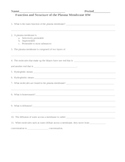 Function and Structure of the Cell Plasma Membrane Homework Assignment