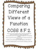 Comparing Representations of Functions 8.F.2