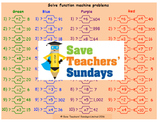 Function machines lesson plans, worksheets and other teaching resources