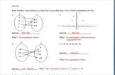 Function non function quiz assessment worksheet