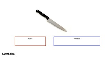 Function of Kitchen Tools (Peeler, Grater, Knife)