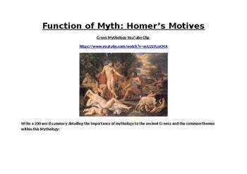Function of Myth: The Trojan War