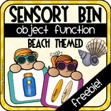 Function of an Object Sensory Bin (Beach Themed)