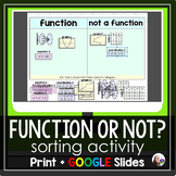 Function of Not? Sorting Activity - print and digital