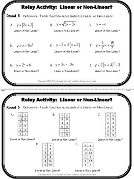 Function or Not & Linear or Non-Linear Relay Activity