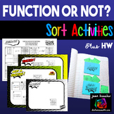 Identifying Functions  - Function or Not Sorting Activities plus HW