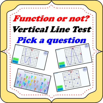 Function or not? Vertical line test - Pick a question PowerPoint game
