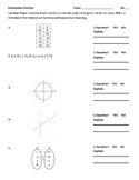 Function or not a function worksheet homework quiz