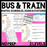 Functional Academics - Bus and Train Schedules, Routes & Signs - Life Skills