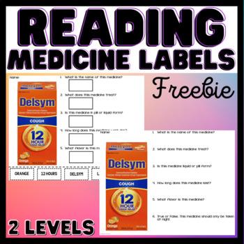 Functional Academics - Reading Medicine Labels - Free - Life Skills