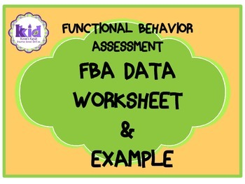 Functional Behavior Assessment Data Collection Form
