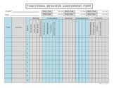 Functional Behavior Assessment Data Sheet