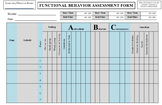 FUNCTIONAL BEHAVIOR ASSESSMENT FBA DATA FORM APPLIED BEHAVIOR ANALYSIS EDITABLE