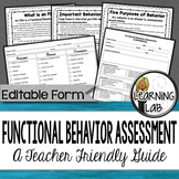 Functional Behavior Assessment (FBA) - A Teacher-Friendly Guide