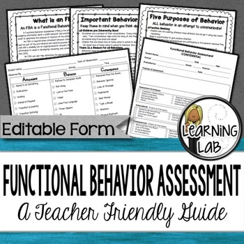 Functional Behavior Assessment (Fba) - A Teacher-Friendly Guide By