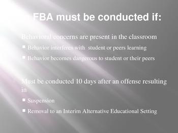 Functional Behavior Assessment (FBA) PowerPoint