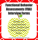Functional Behavior Assessment Interview Forms