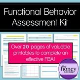 Functional Behavior Assessment Kit - Printable forms for an effective FBA
