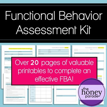 Functional Behavior Assessment Teaching Resources  Teachers Pay
