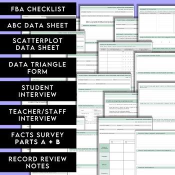 Functional Behavior Assessment Kit - Printable forms for an effective FBA