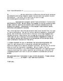 Functional Behavior Assessment Parent Info Letter