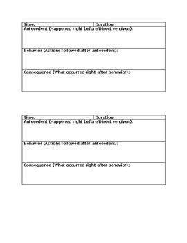 Functional Behavior Assessment Write In