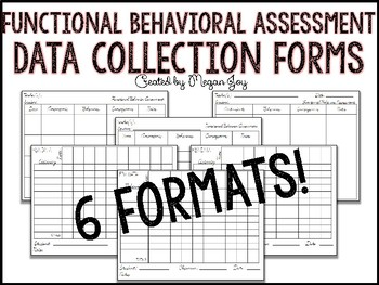 FBA Functional Behavioral Assessment Data Collection Logs