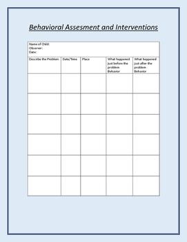 Functional Behavioral Assessments compilation