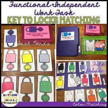 Functional Color Matching Independent Work Tasks: Keys to Locks