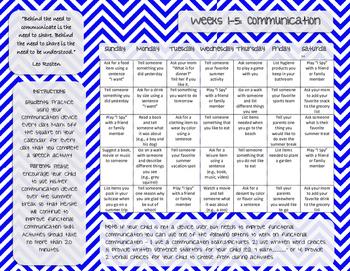 Functional Communication Homework Packet