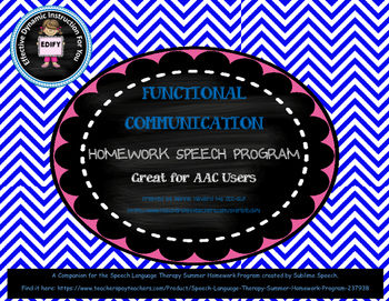 Functional Communication Homework Packet