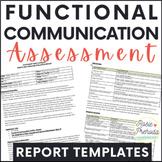 Functional Communication Speech Report Template