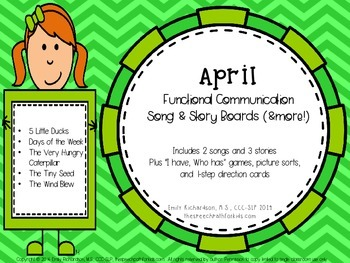 Functional Communication Song & Story Boards - April