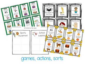 Functional Communication Song & Story Boards - FALL Bundle