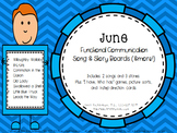 Functional Communication Song & Story Boards - June