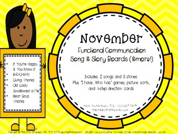 Functional Communication Song & Story Boards - November