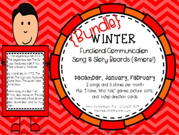 Functional Communication Song & Story Boards - WINTER Bundle