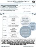 Functional Communication Training - Tip Sheet