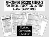 Functional Cooking Skills for Special Education, Autism or ABA Classroom