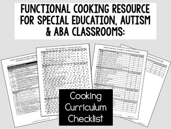 Functional Cooking Skills for Special Education, Autism or