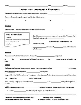 Functional Document Notesheet