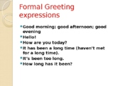 Functional English-Greeting expressions