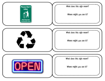 Functional Reading - Environmental Signs