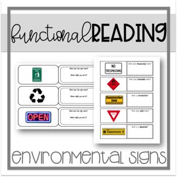Functional Reading - Environmental Signs