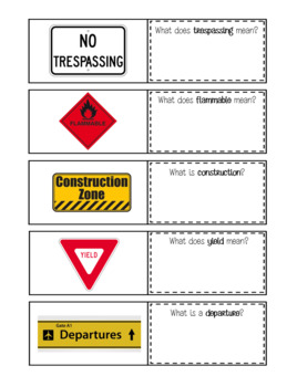 Functional Reading: Environmental Signs